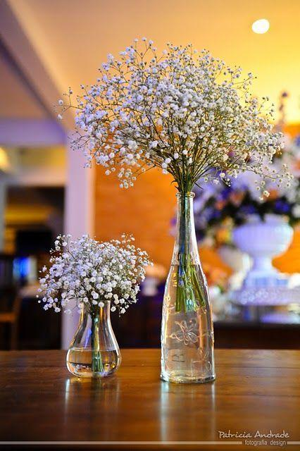 Table Top with Bottle: See Beautiful Ideas to Decorate the Table 24