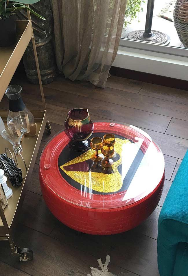 Colorful and fun coffee table