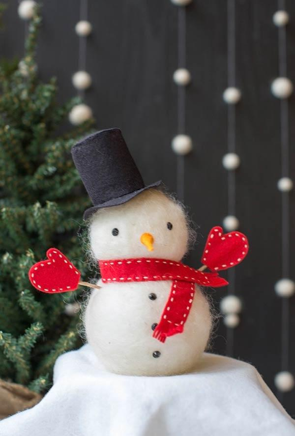Felt Christmas ornaments: ideas to use in decorating 7