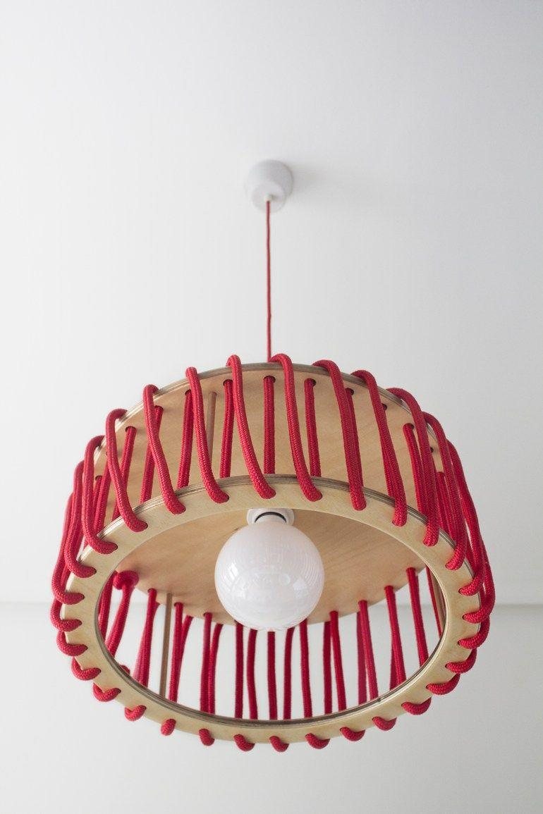 Lampshade with string