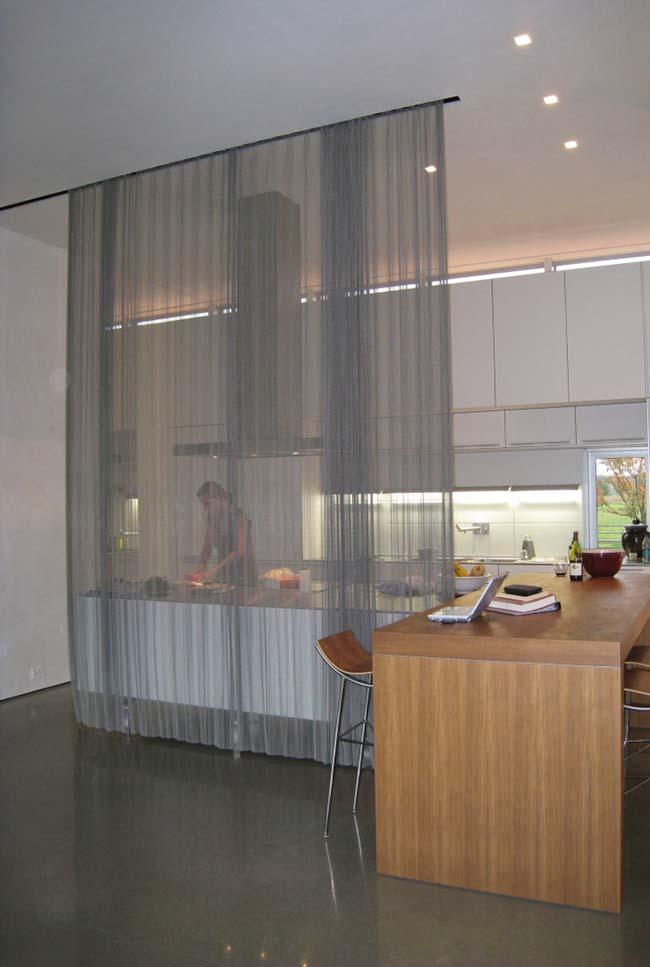 Room divider in curtain format