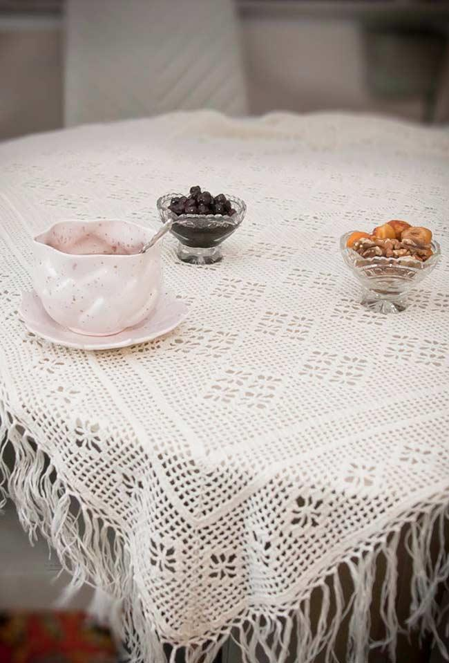 Crochet towel: ideas to add table decoration 2