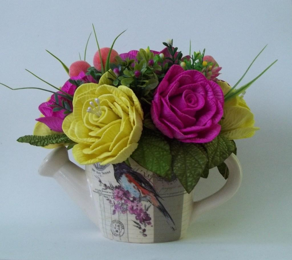 Flowers of EVA: 70 ideas, molds and step by step 54