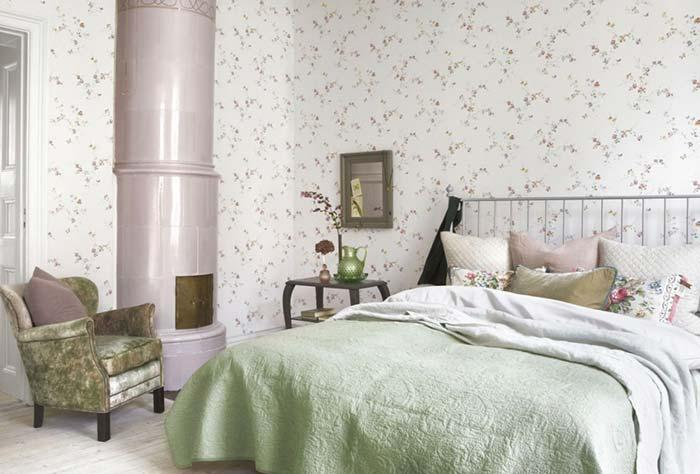 Provencal decoration with wallpaper