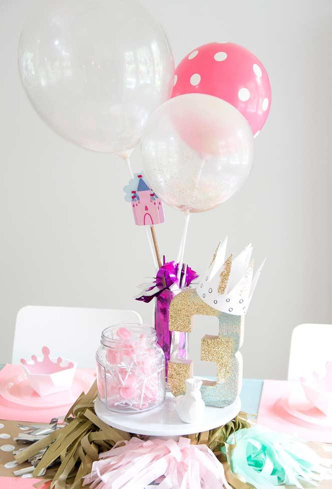Balloons in the party decoration Princess