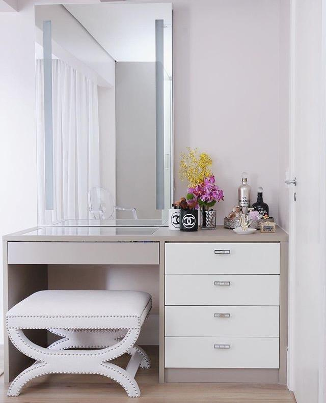 Makeup table: 60 ideas to decorate and organize 30