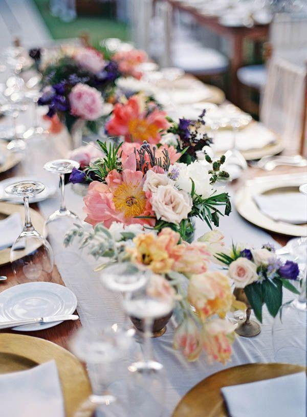 Wedding arrangements: 70 ideas for table, flowers and decoration 50