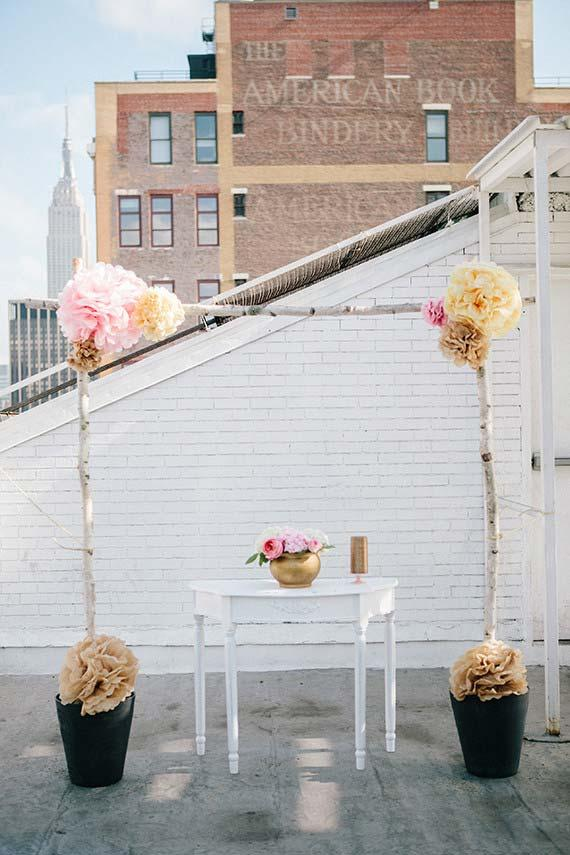 Simple Altar for Wedding Ceremony at Home