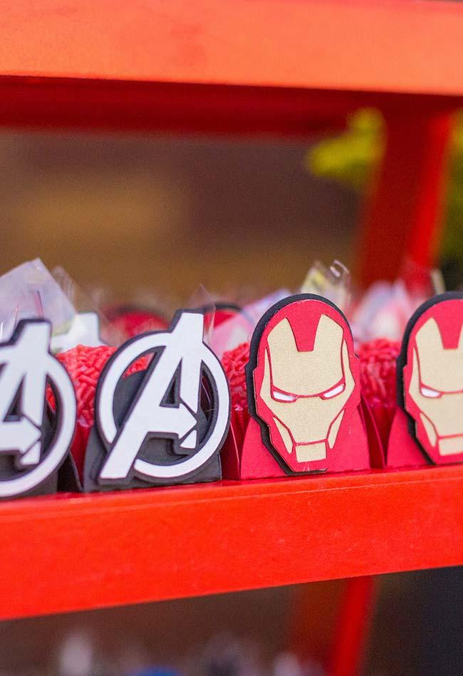 Packaging for the Avengers party candy