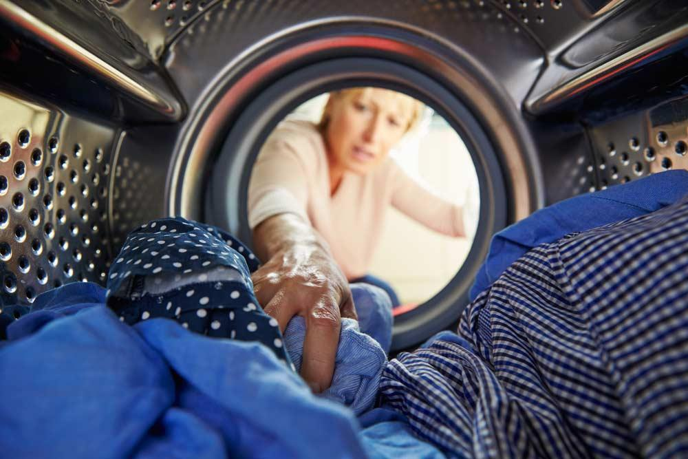 Clothes in the washing machine