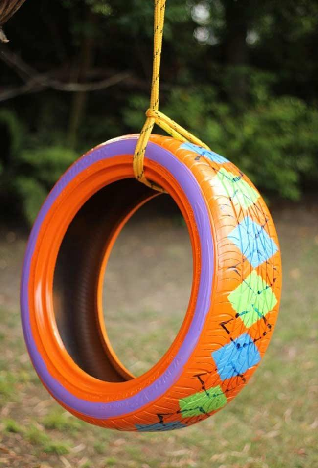 Tire Crafts: 65 ideas and photos to inspire your creation 15