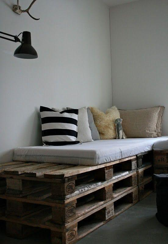 Sofa with three pallets