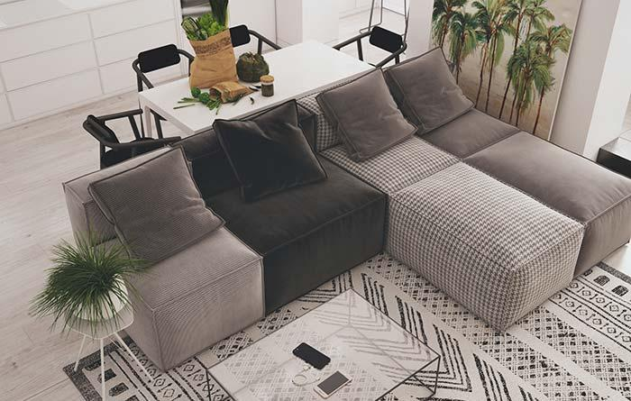 Gray in modern living room decor