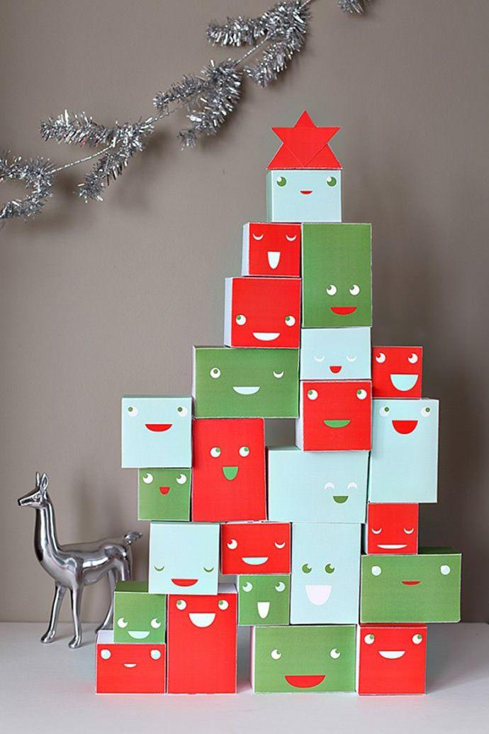 Gifts stacked in tree shape