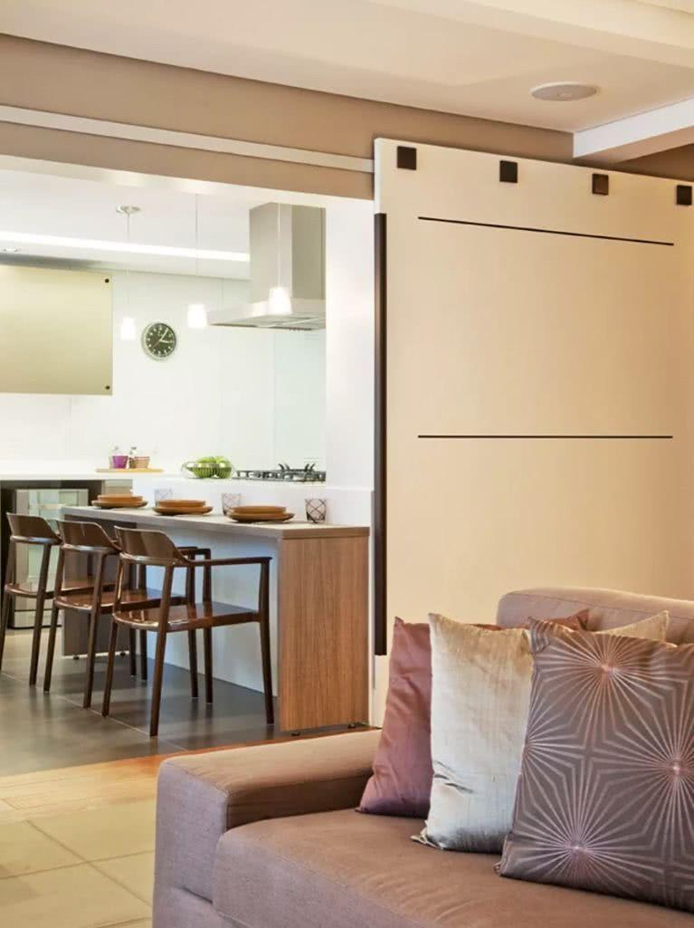 Sliding door: advantages of using and projects with photos 45