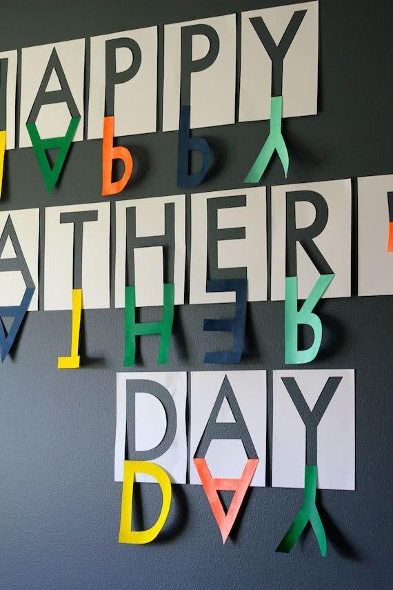 Father's Day Decor: 60 creative ideas with step by step 47