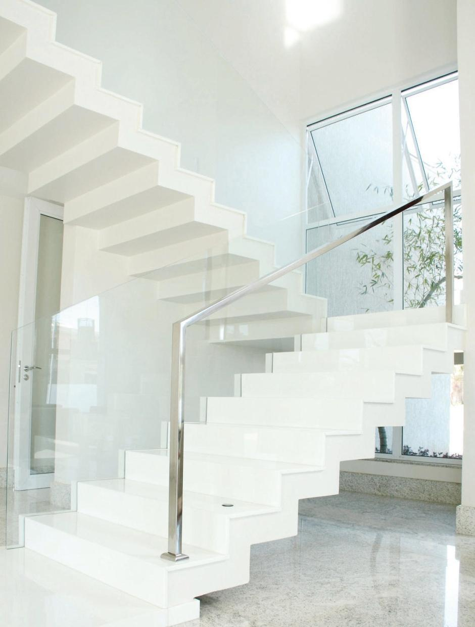 Stainless steel handrail: see tips and 60 models with photos 44