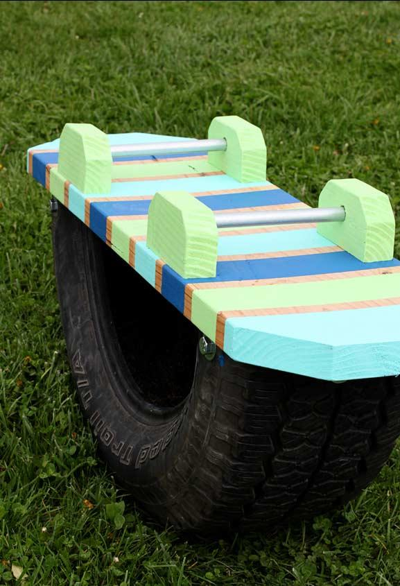 Tire Crafts: 65 ideas and photos to inspire your creation 17