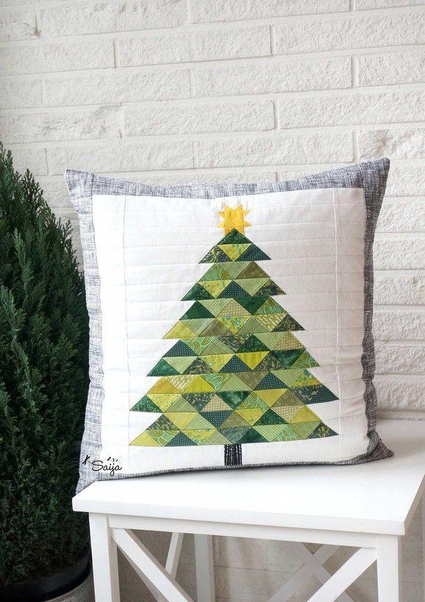 Christmas Cushions: 60 Decorating Ideas and How to Make 29