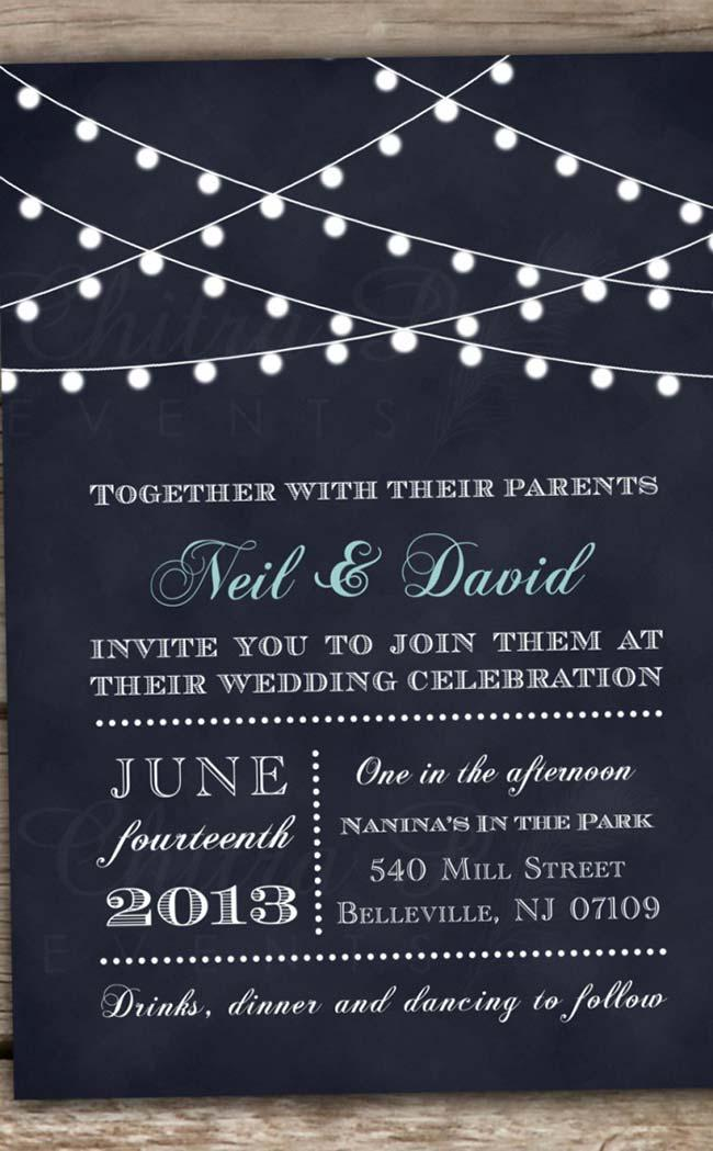 Cheerful and Stripped Wedding Invitation