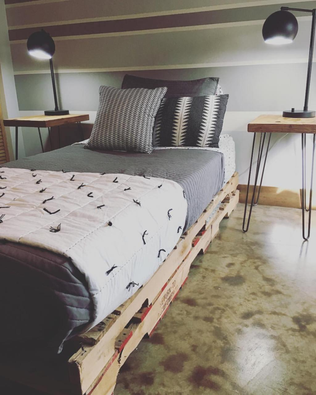 Pallet bed: 60 models, photos and walkthrough 22