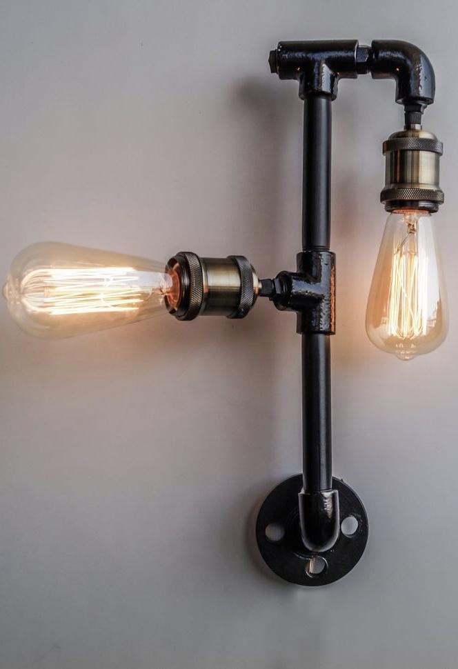 PVC luminaire with carbon filament lamps