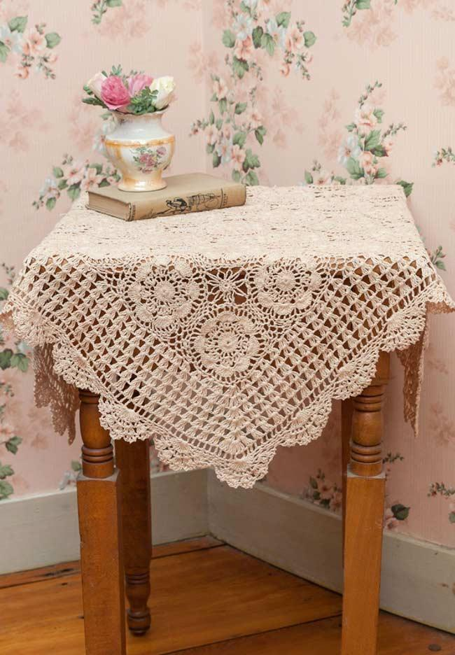 Crochet towel: ideas for adding table decoration 12
