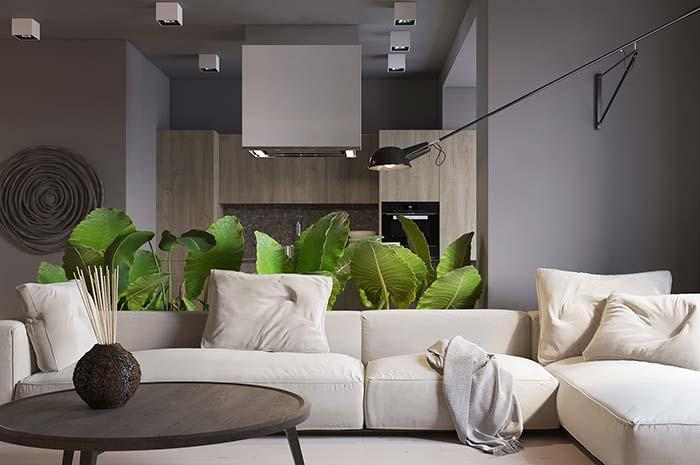 Modern decoration: a green touch to break the monotony of colors