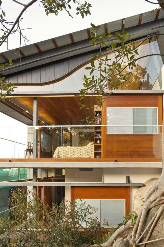 Modern architecture house with galvanized roof