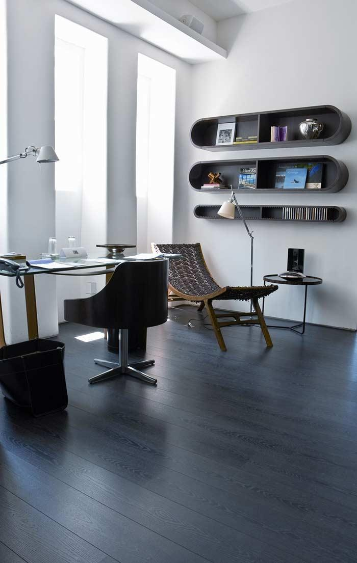 Laminate floor available in the black version