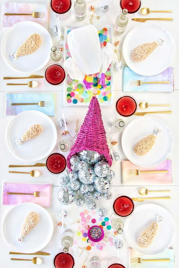 Table set with great joy and fun
