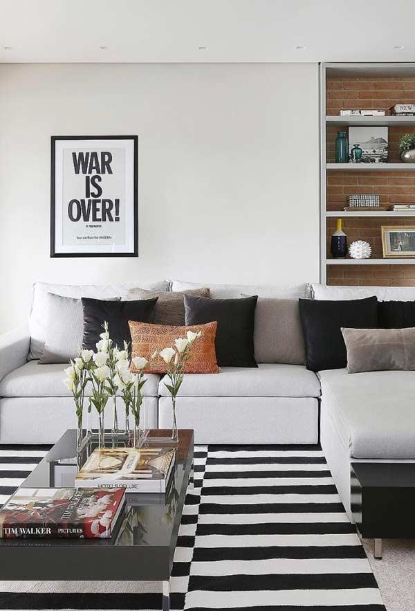 Colors of cushions for living room according to the decoration of the environment