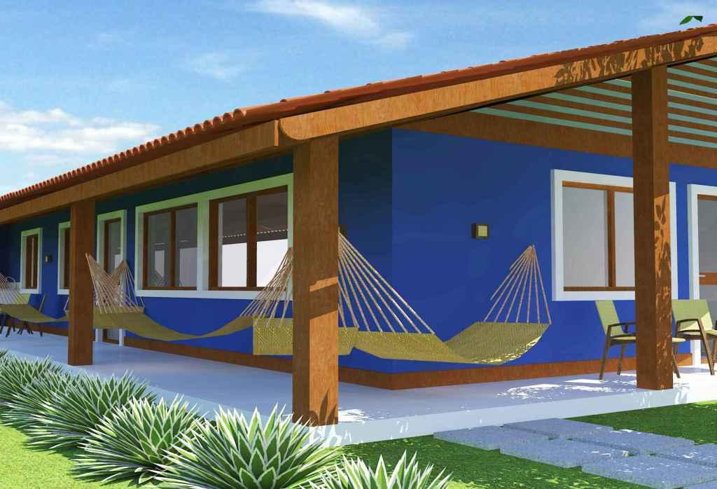Colors of houses: trends and photos for exterior painting 24