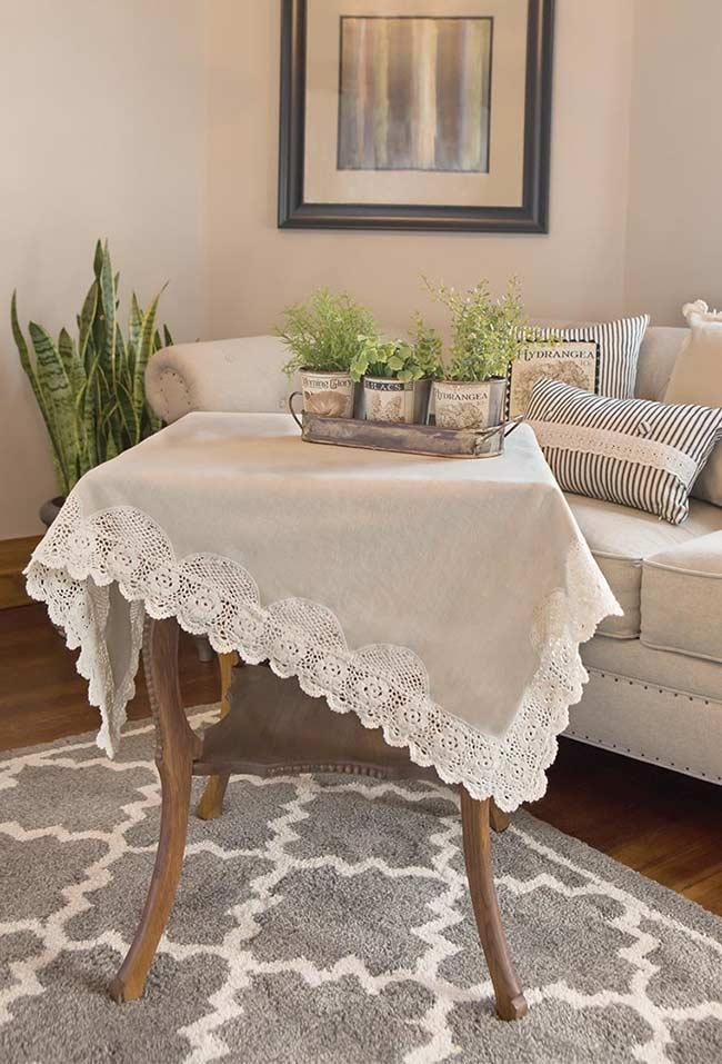 Crochet towel: ideas to add table decoration 3