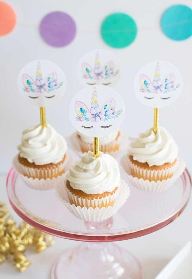 Beautiful cupcakes for unicorn party