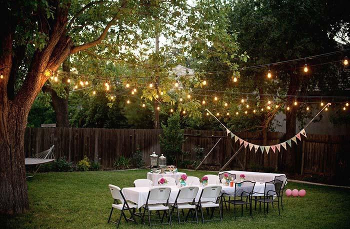 To the love of this outdoor engagement party
