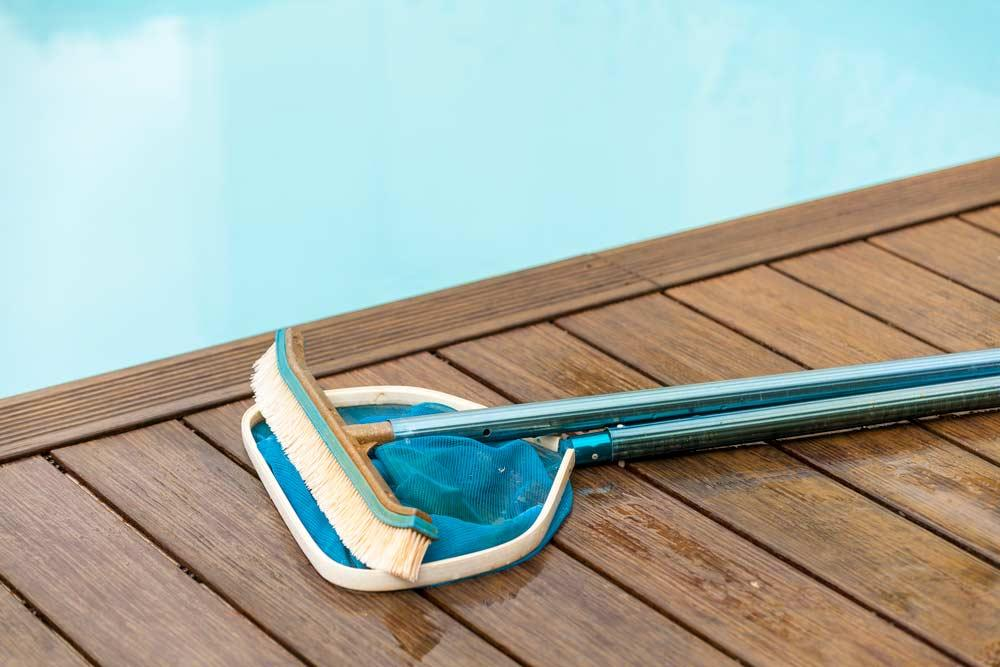 How to Clean Pool: Materials on Deck