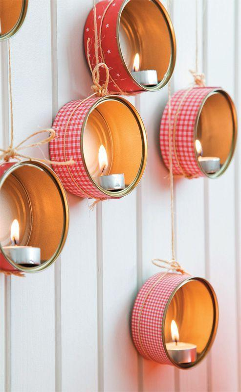Cans decorated: 70 cool ideas to make at home 4