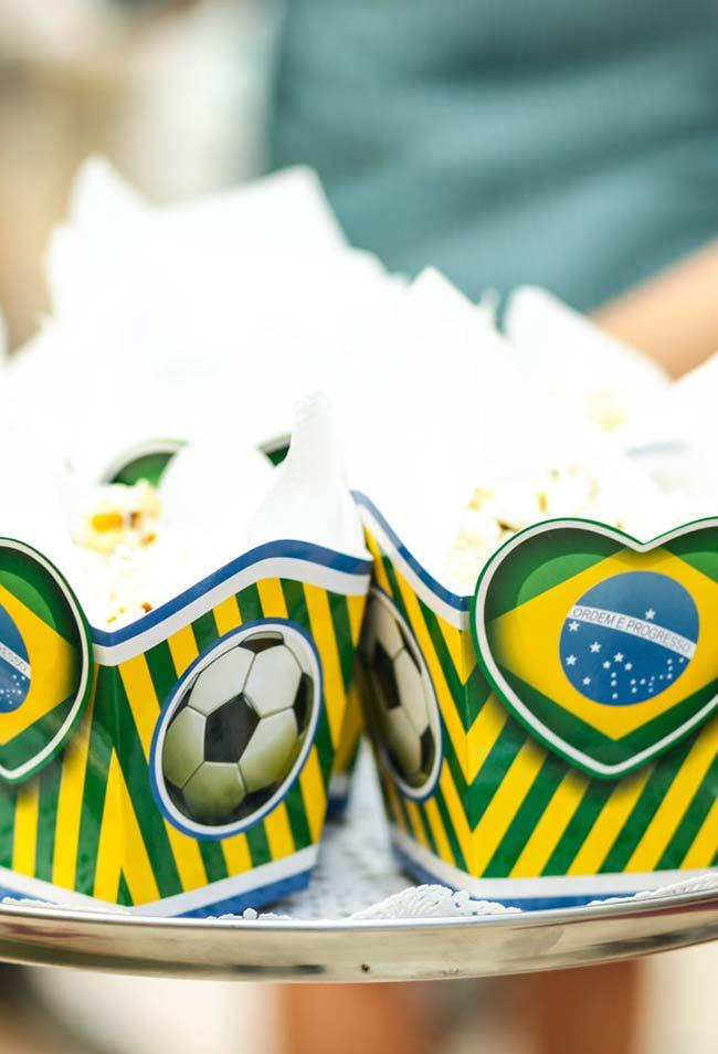 Popcorn for party world cup
