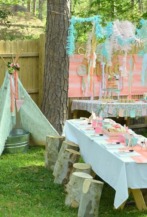 Candy colors in boho style for party
