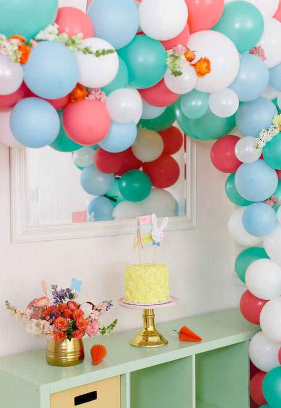 Bexigas to decorate an Easter party