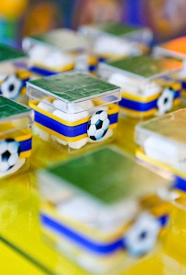 Souvenir with soccer field boxes