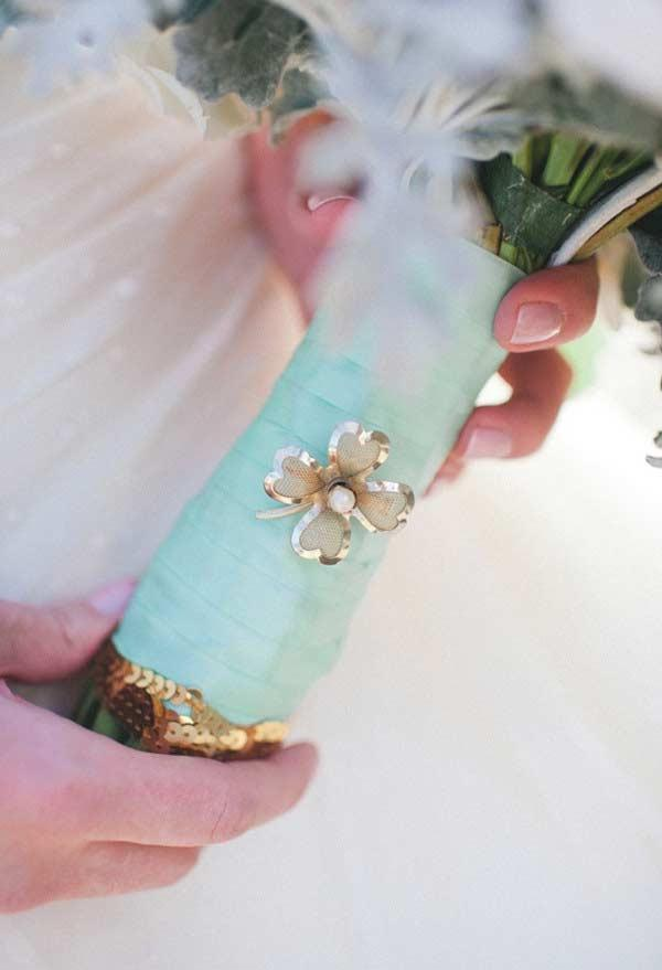 Bouquet Cable Detail with Blue Color Tiffany