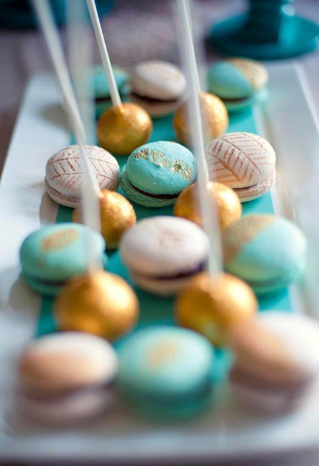 Macarons with special patterns