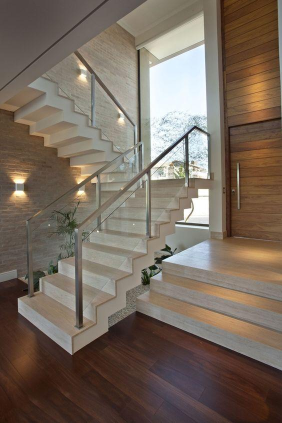 Stainless steel handrail: see tips and 60 models with photos 10
