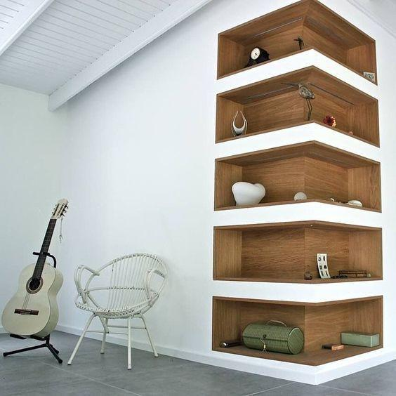 Plaster shelf: advantages and 60 projects to inspire 19