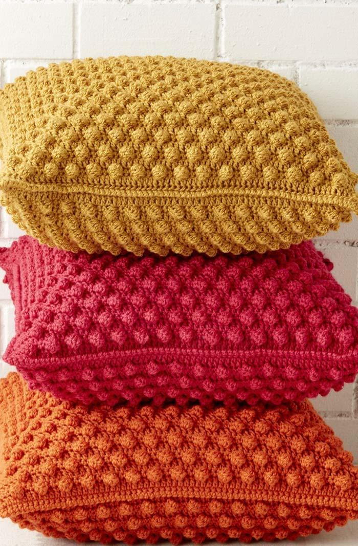 Crochet cushion cover set