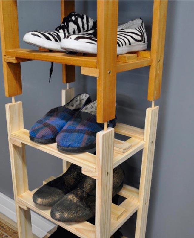 Pallets with groove for the shoe rack