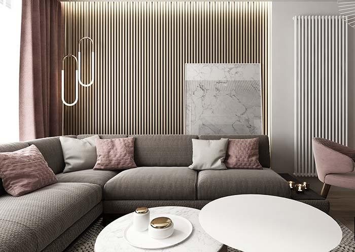 In this room, the modern design of the pendant lamps stands out