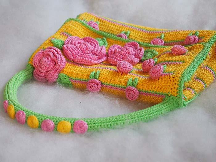 Colorful and cheerful crochet bag
